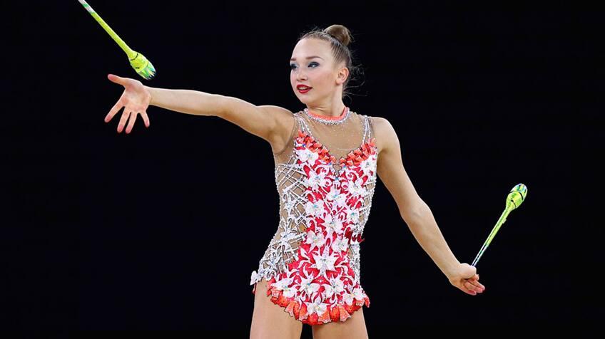 Canadian rhythmic gymnast Patricia Bezzoubenko