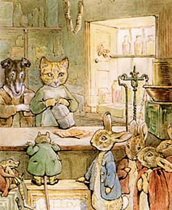 illustration from The Tale of Ginger and Pickles book
