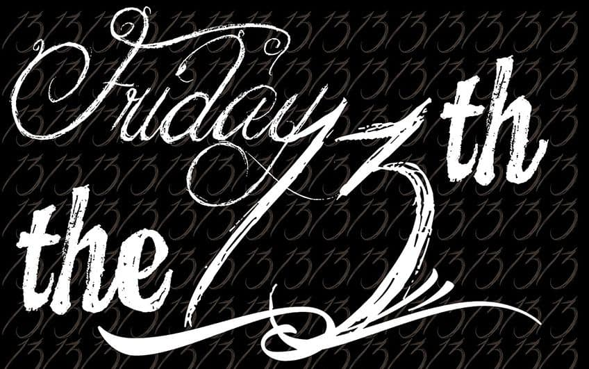 Friday the 13th in calligraphy