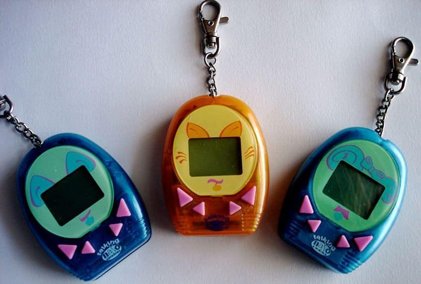 three Talking Nano virtual pet toys