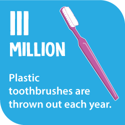 111 million plastic toothbrushes are thrown out each year.