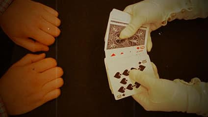 Magician searches for all cards facing up.