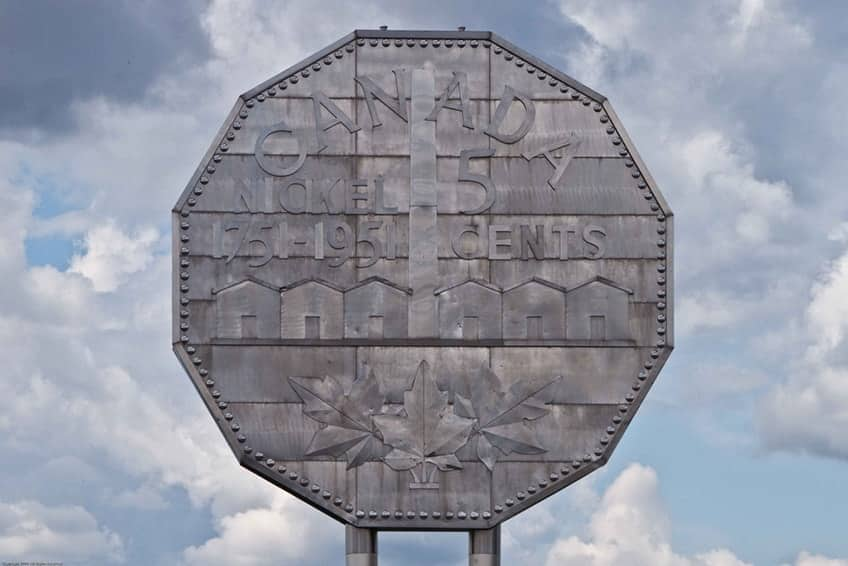 The Big Nickel coin monument