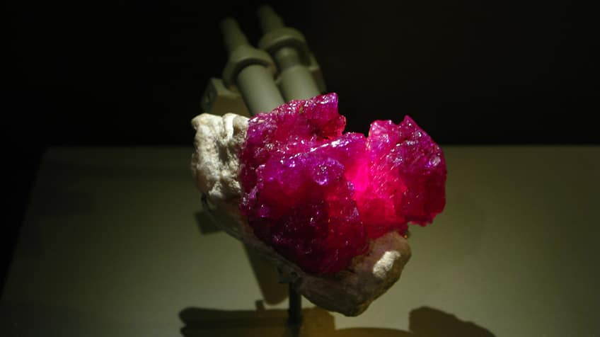 A ruby on display