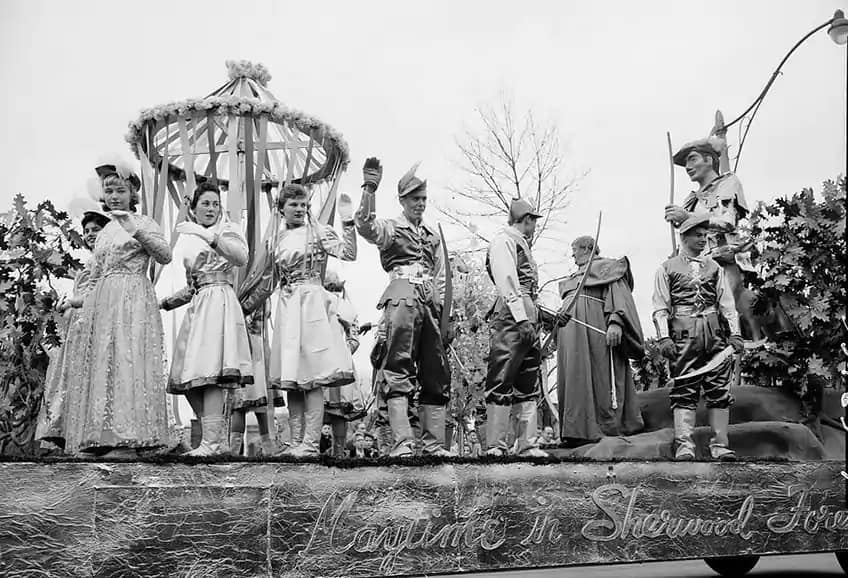An old Sherwood Forest float from the Santa Claus Parade in the 1950s.