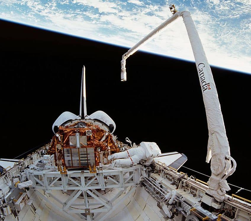 The Canadarm in space