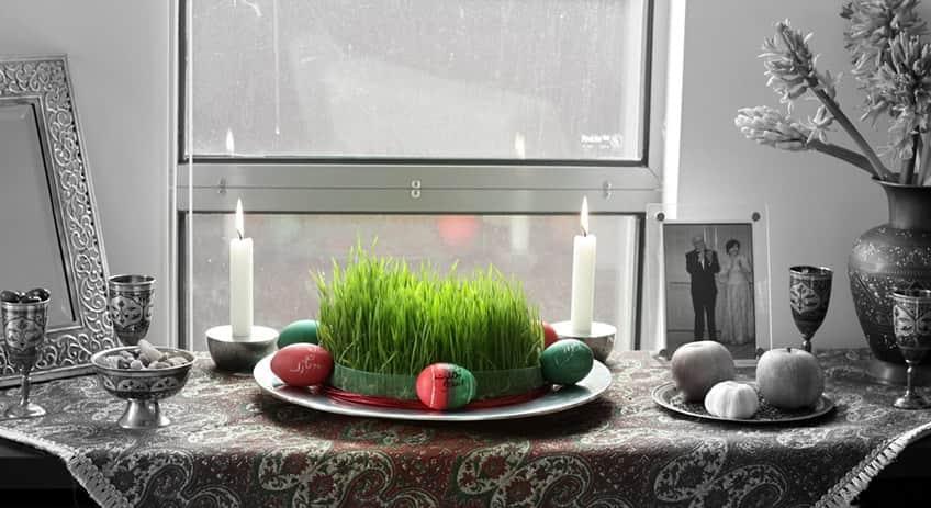 Iranian table set for Haft Sinn