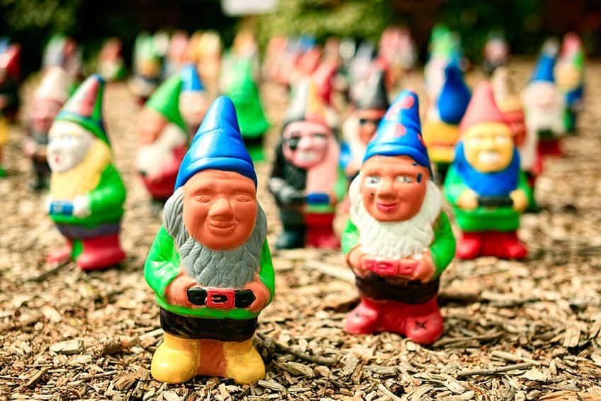 little painted gnomes