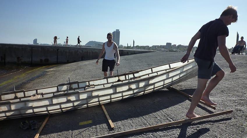 Traditional Irish rowing boats
