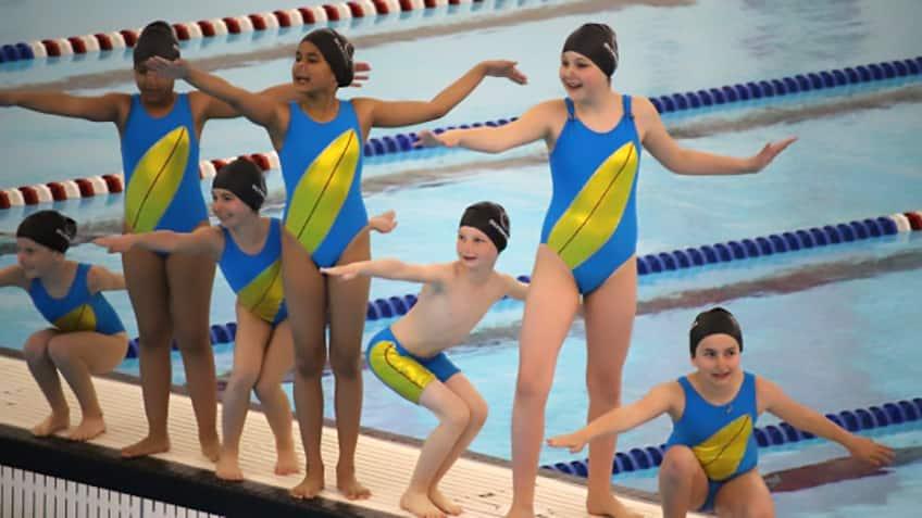 Etobicoke Olympium swimming club's synchronized swimming team