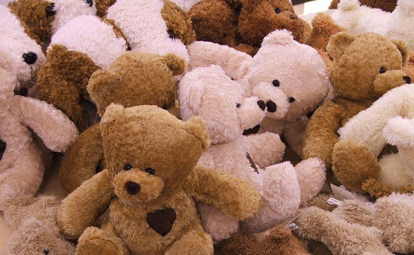 a whole bunch of teddy bears