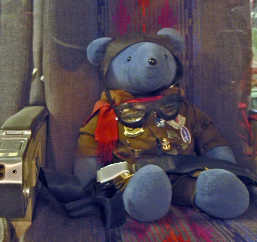 the first teddy bear to go out into space
