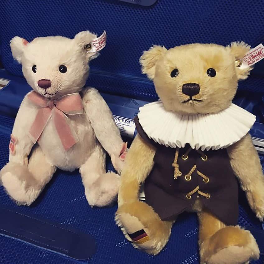 two small Steiff teddy bears