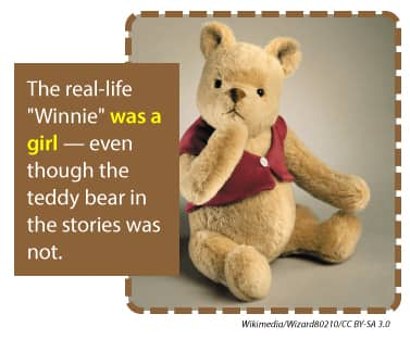 The real-life Winnie was a girl