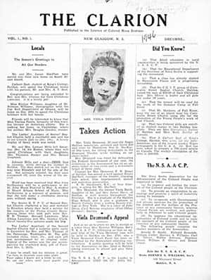 image of The Clarion newspaper featuring Viola Desmond