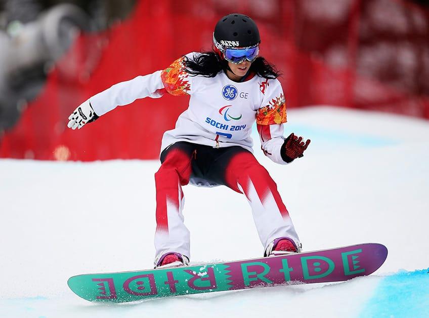 Michelle Salt snowboarding