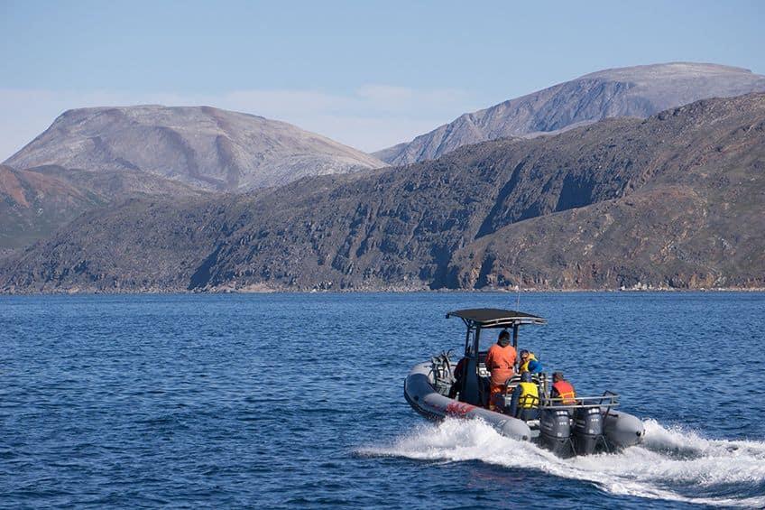a boat in Saglek Fiord