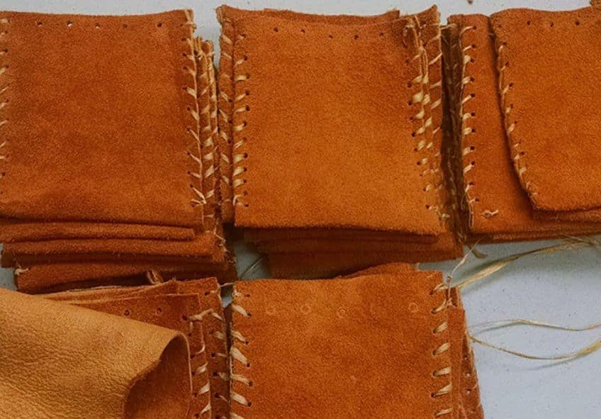 pouches made of moose hide