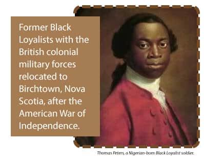 Portrait of a Black Loyalist soldier