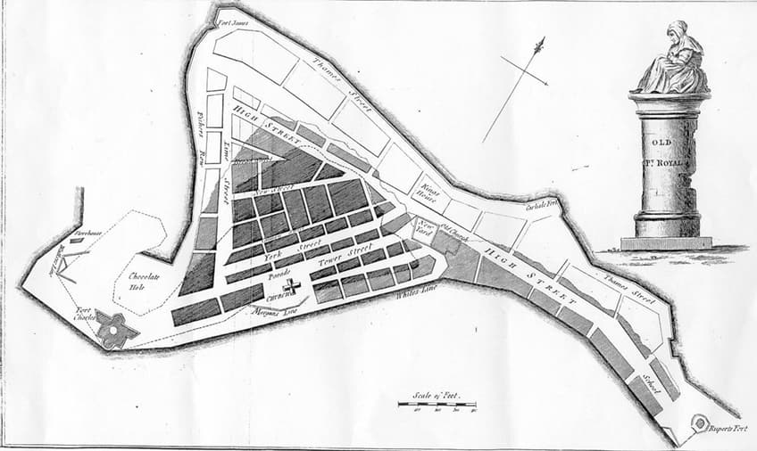 Map of Port Royal Jamaica