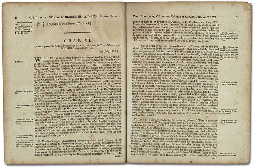 1793 Act to Limit Slavery in Upper Canada