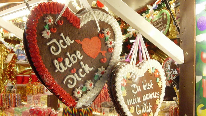 Valentine's Day cookies in Germany