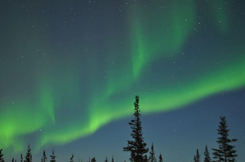 beautiful display of northern lights
