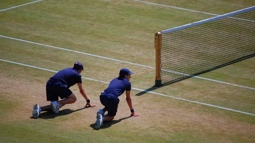 Wimbledon ball boys and girls