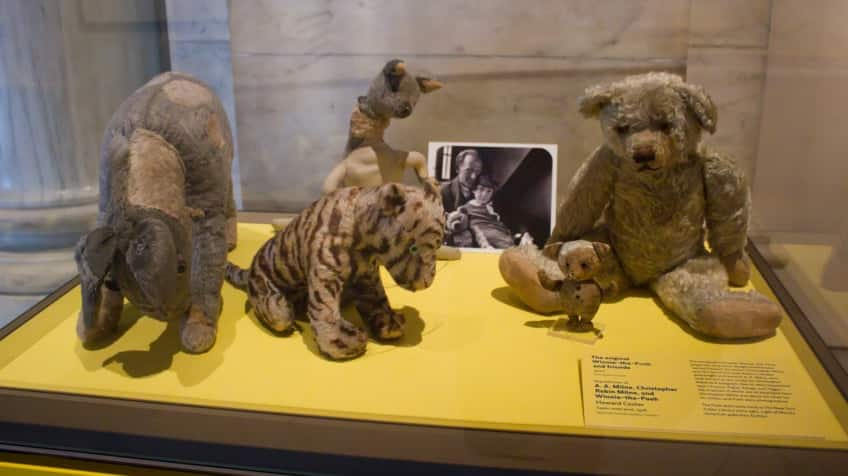 Christopher Robin's real-life stuffed animals that inspired Winnie-the-Pooh, Piglet, Tigger, Kanga and Eeyore