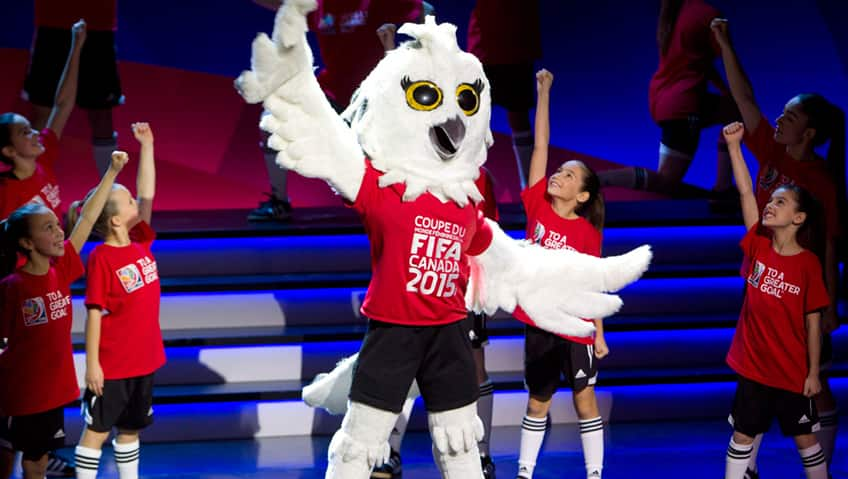 Shueme the Snow Owl, the Women's World Cup mascot