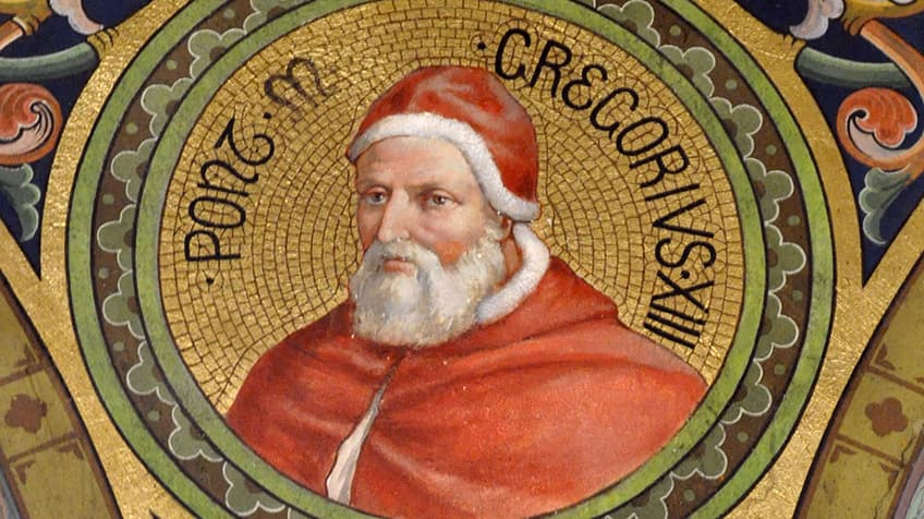 Mosaic of Pope Gregory XIII