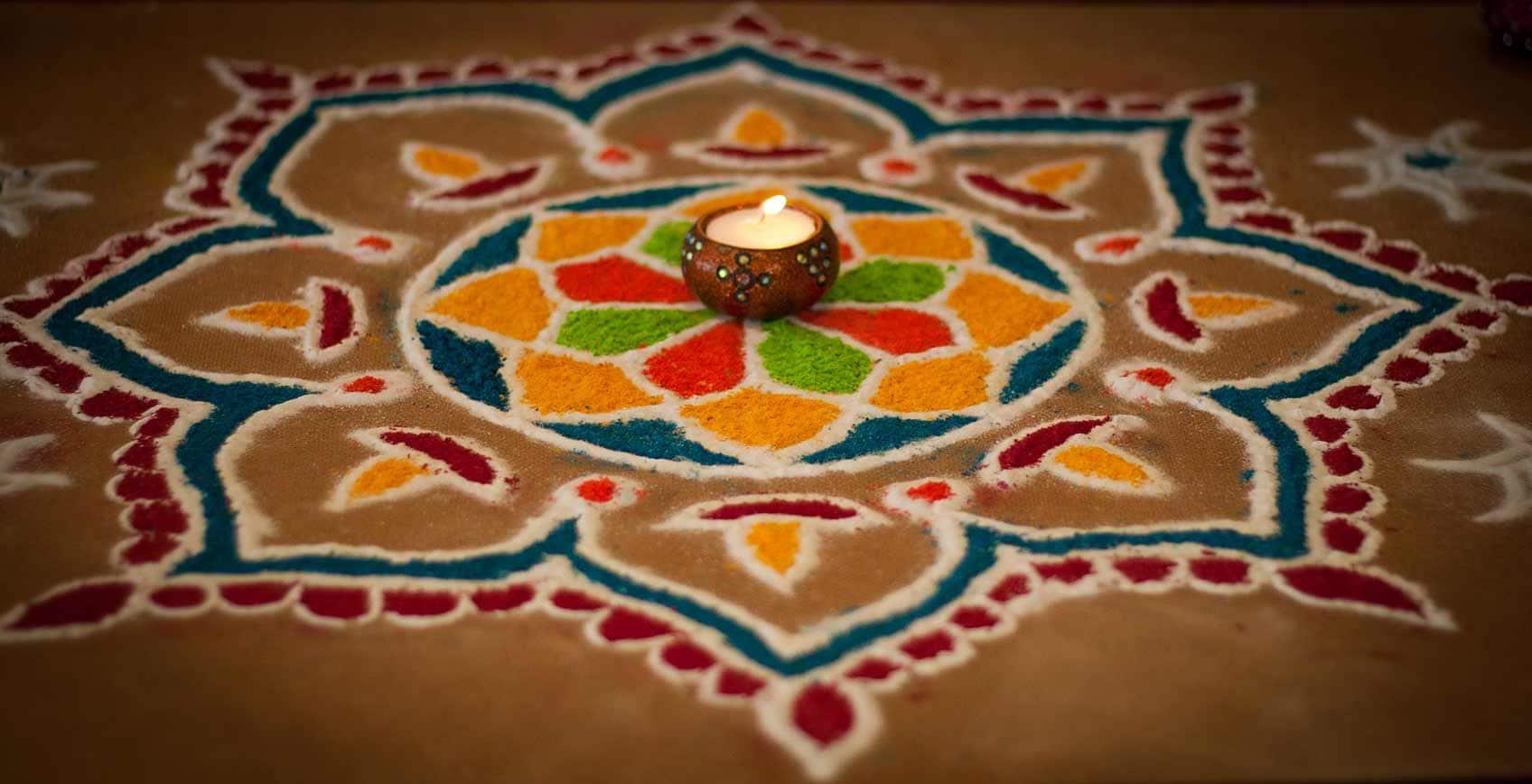Diwali sand art