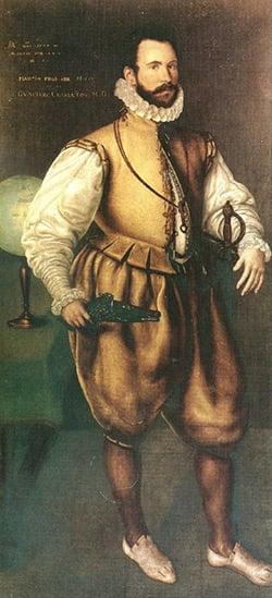 """Painting """"Sir Martin Frobisher"""" 1577 by Cornelis Ketel"""