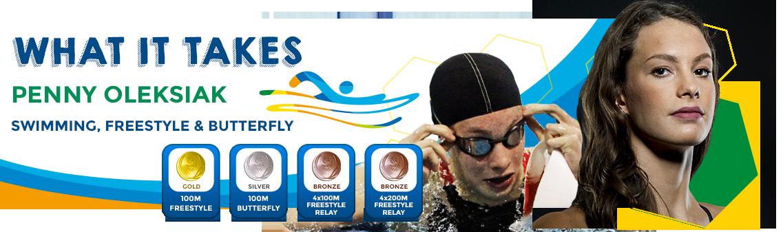 Penny Oleksiak freestyle swimmer
