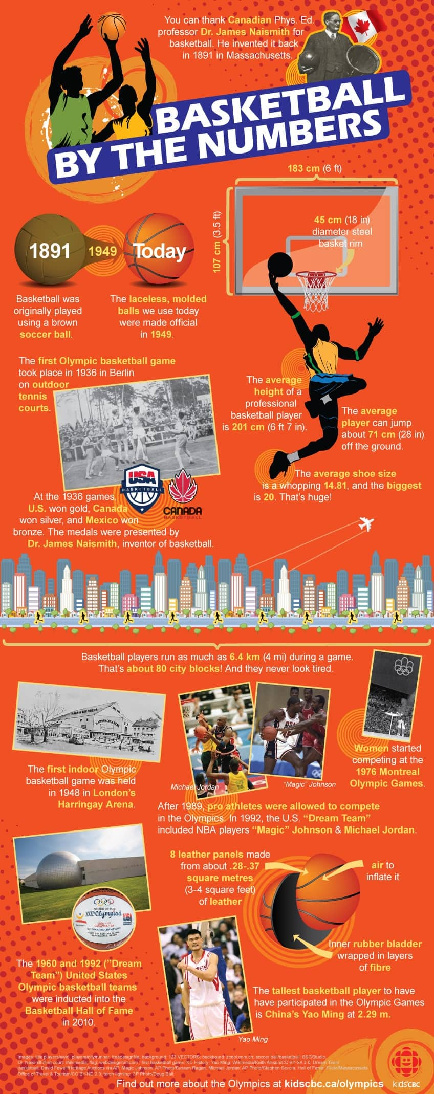 Basketball by the numbers infographic