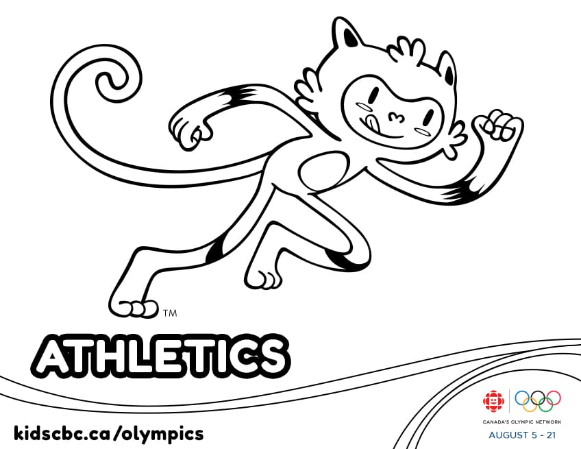 olympic games colouring sheet athletics