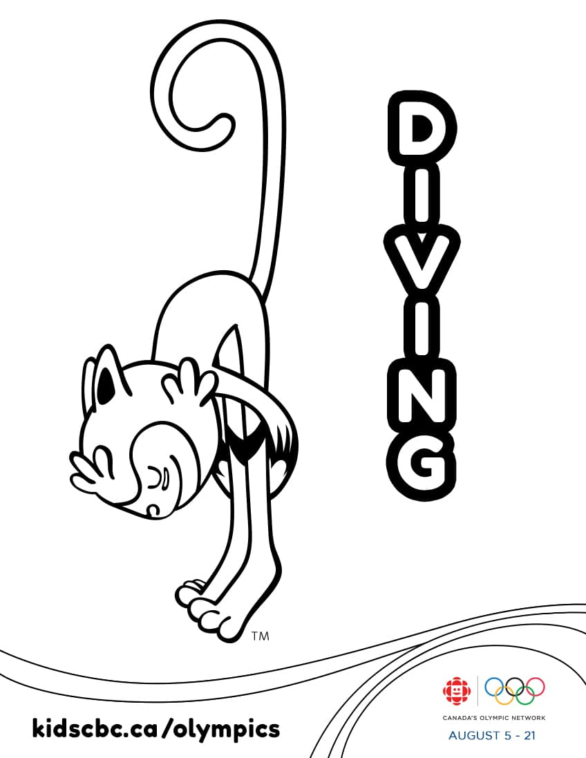 Colouring games play online free - Olympic Games Colouring Sheet Diving