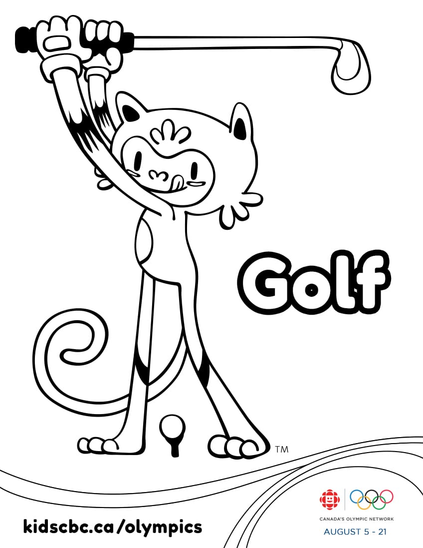Colouring games play online free - Olympic Games Colouring Sheet Golf