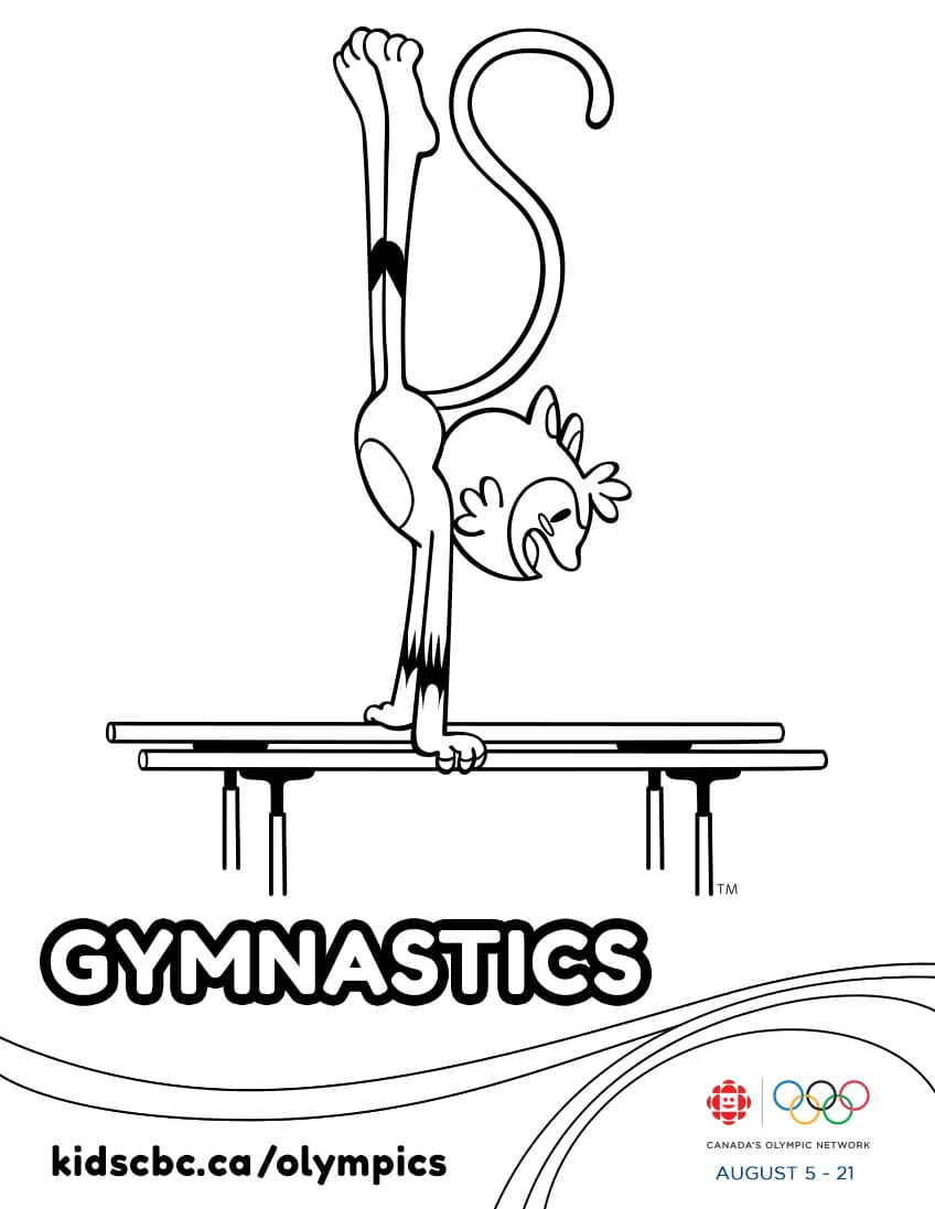 Colouring games free online to play - Olympic Games Colouring Sheet Gymnastics