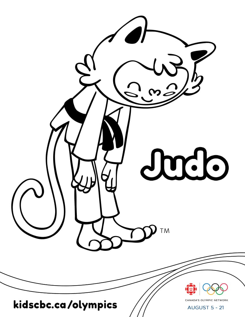 Colouring games play online free - Olympic Games Colouring Sheet Judo