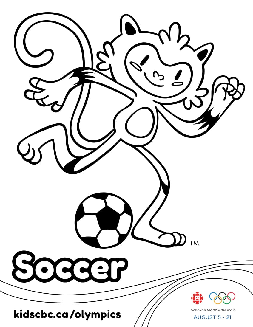 Olympic Games colouring sheet Soccer Play Free Online Sports