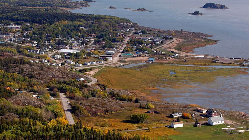 A view of Fort Chipewyan, Alta., close to where the project would be built.