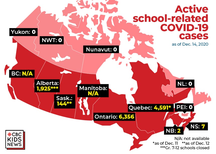 Where are there cases of COVID-19 in schools? Check out this map | Article | Kids News