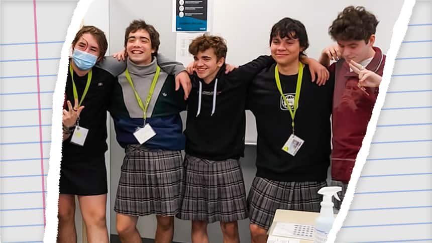 Boys in Quebec are wearing skirts to school. Here's what a girl thinks |  Article | Kids News