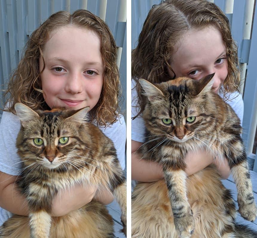 Charlie and his cat Zuchinni.