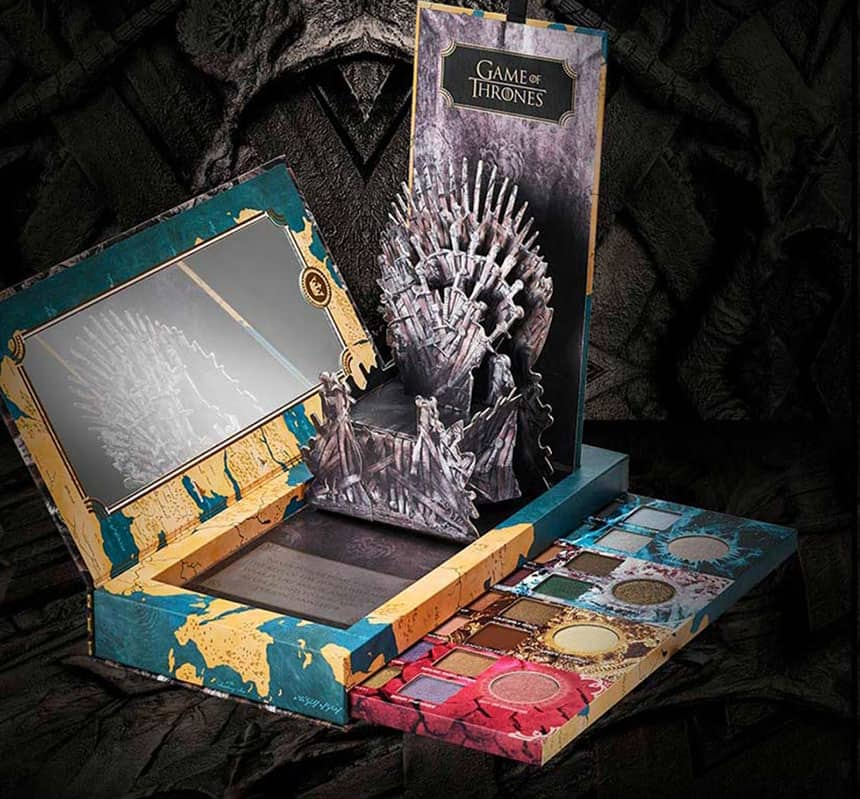 A makeup box with the Game of Thrones logo