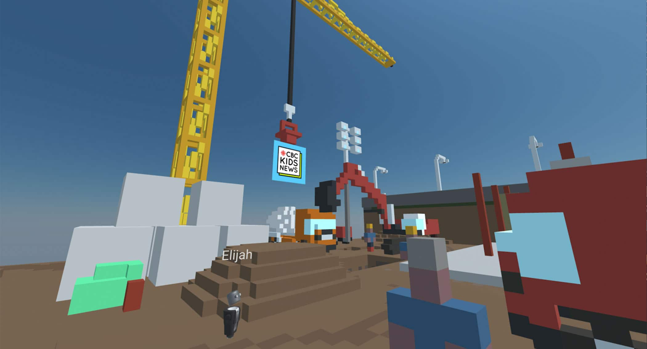 CBC Kids News is building a virtual reality set, here's what it looks like so far.