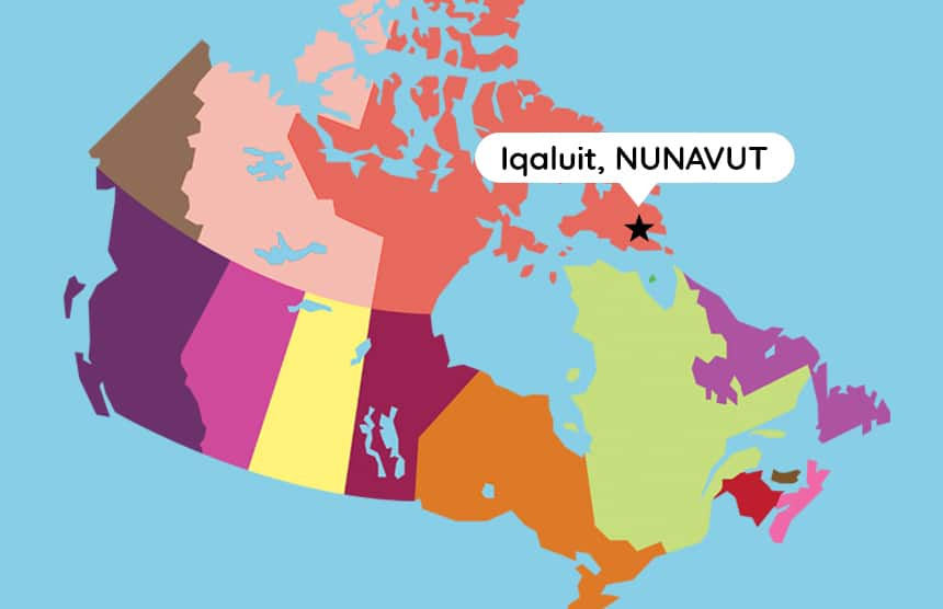 Map Of Canada Nunavut.Inuk Boy Takes A Stand By Sitting Down During Anthem Video Kids News
