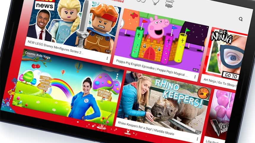 IPad shows children's shows like lego, Peppa Pig, Rhino Keepers and Ninja stuff.
