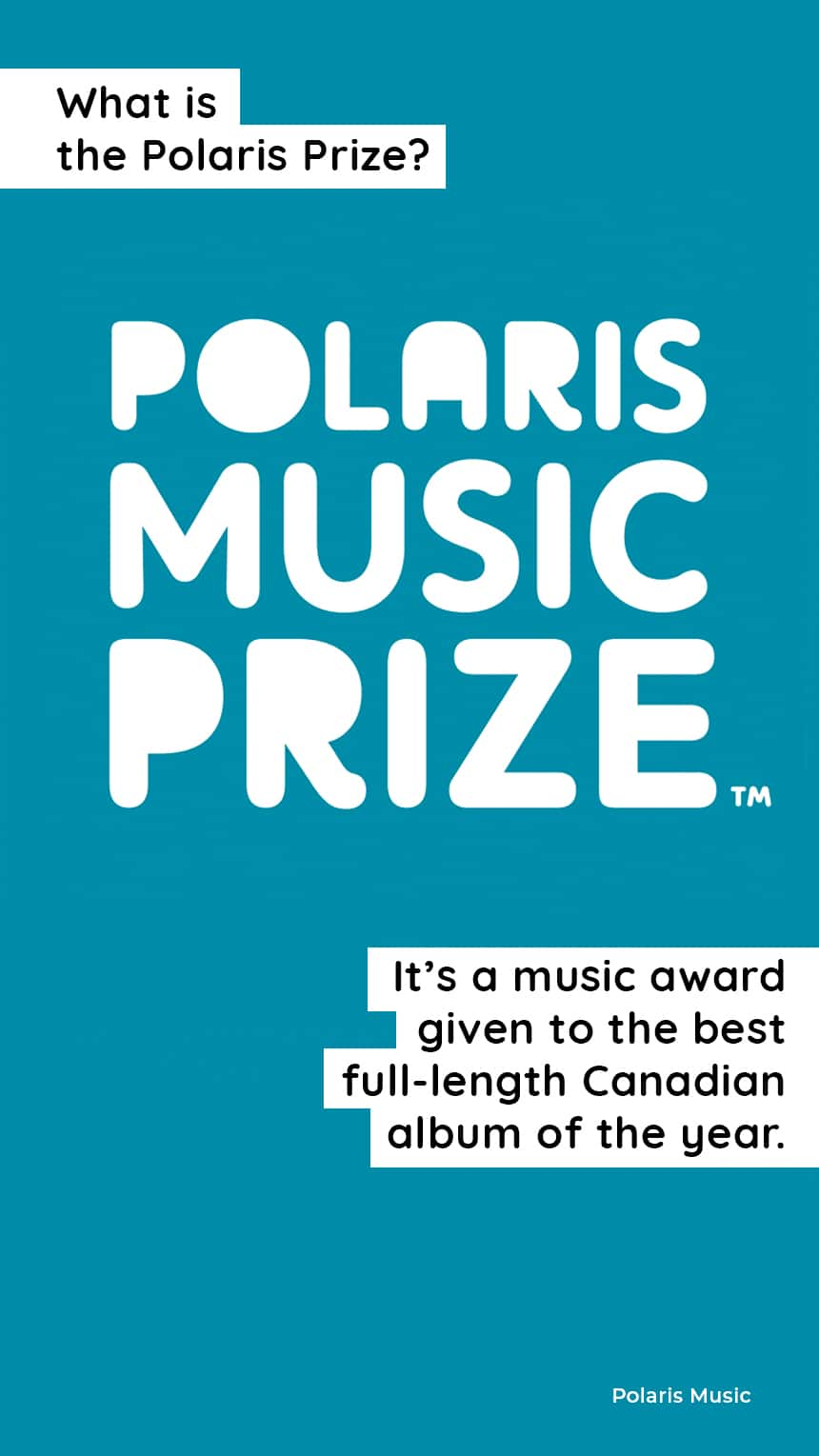 TEXT: What is the Polaris Prize? It's a music prize given to the best full-length Canadian album of the year.
